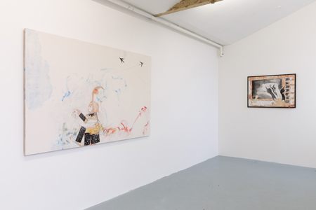 Installation view of Gaia Fugazza solo show Present and Distracted at the Zabludowicz Collection, London