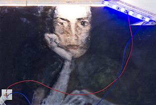 A self-portrait by Gaia Fugazza with the collaboration of Haroon Mirza.
